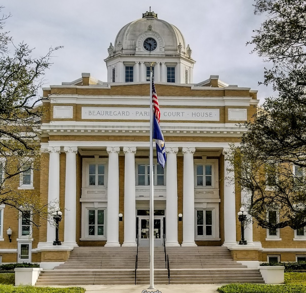 beauregard courthouse in de ridder, louisiana