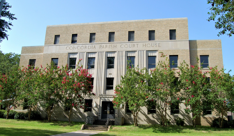 concordia parish courthouse in vidalia, louisiana